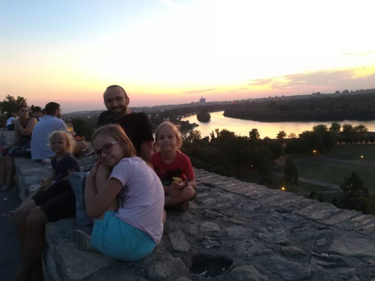 Forteca Belgrad i rzeka Sawa